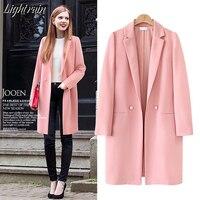 2019 new Spring Autumn Women Slim Casual Long Thin Long Blazer Jacket Coats Fashion Cardigans