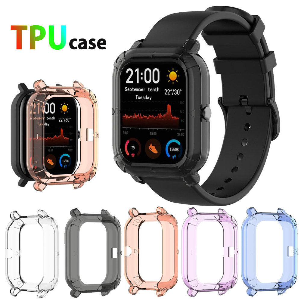 TPU Frame Bumper Cover Case Shell Protector For Xiaomi Huami Amazfit GTS Smart Watch Protector Bracelet Protective Accessories