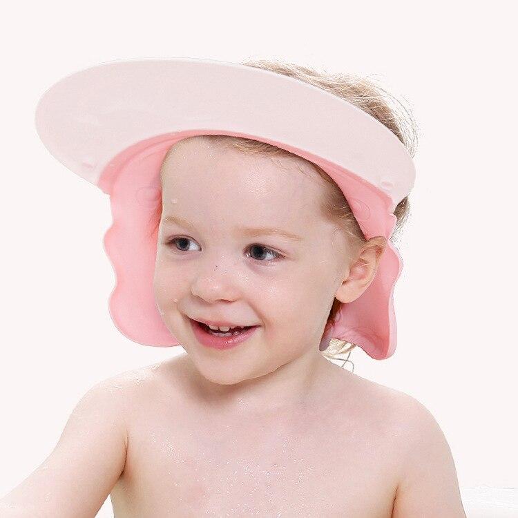 Infants Extra-large No. Waterproof Shower Cap Baby Earmuff Waterproof Shower Cap Size Adjustable Sun Hat
