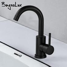 Tipo misturado preto tipo único alça plataforma um furo instalação banheiro chuveiro cozinha wc torneira da pia