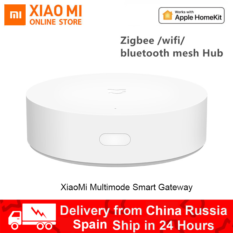 Xiaomi Mijia Gateway 3 Multi-Mode Smart Home Hub Voice Control Work With ZigBee WIFI Bluetooth Mesh Apple Homekit Aqara Mi Home