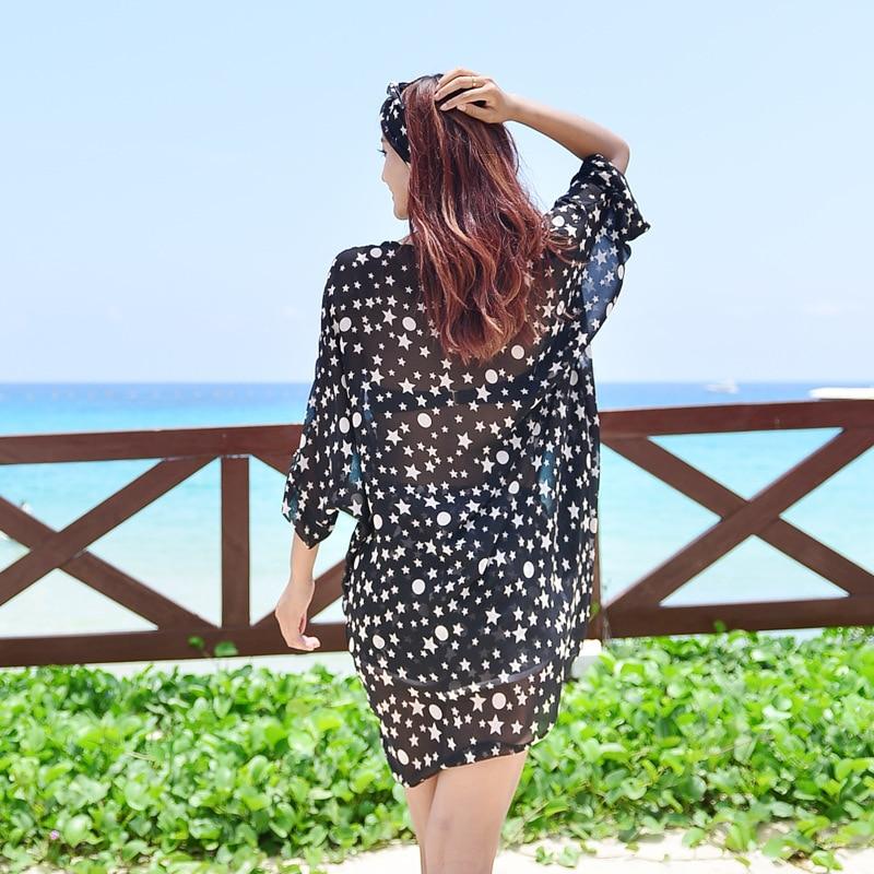 Bikini Bathing Suit Blouse Coat Island Hot Springs Veils Apron Covers Swimwear Outdoor Women's Star Beach Skirt