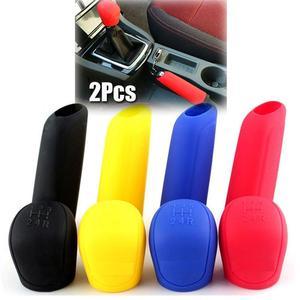 2 шт./1 Набор, универсальный ручной автомобильный чехол для ручного тормоза, силиконовая головка переключения передач, ручка переключения передач, крышка, разноцветная шестерня, рычаг переключения передач, ручка ручного тормоза