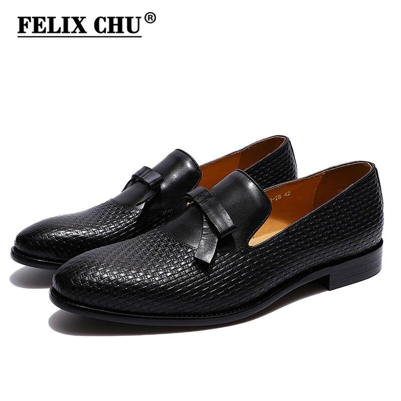 FELIX CHU/модные мужские свадебные лоферы из натуральной кожи с бантом; цвет коричневый, черный; комфортные классические туфли; мужская повседн...