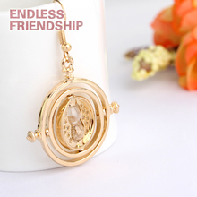 1 pcs Fine Potter Time Turner Necklace Movie Jewelry Hermione Granger Rotating Hourglass Earrings Horcruxes Magic