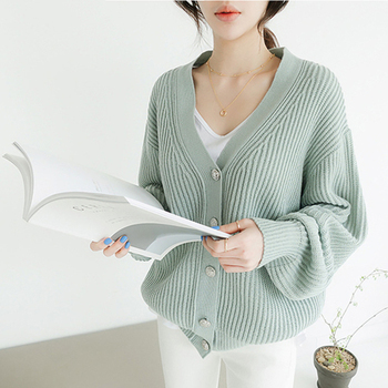 Ailegogo New 2020 Autumn Winter Women's Sweaters V-Neck Buttons Cardigans Casual Fashionable Korean Ladies Knitwears SWC8132 1