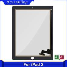 9.7'' For iPad 2 Touch Screen A1395 A1396 A1397 Touch Panel Outer Front Screen Replacement Digitizer Sensor Glass