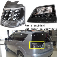 For Mitsubishi Outlander EX 2007 2013 Left&Right Side Car Rear Bumper Tail Light Brake Taillight Head lamp Tail Lamp