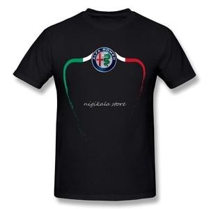 Summer Leisure Alfa Romeo T Shirt Round Collar Male Design Short-sleeved Wholesale