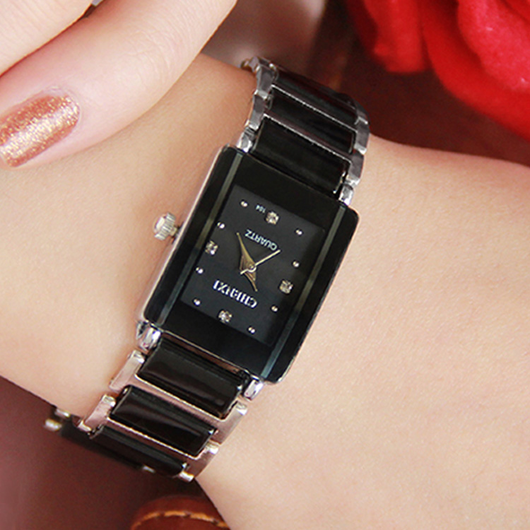 Casual Women Watch Classic Black Ceramics Bracelet Rhinestone Lady Quartz Watch Woman Man Gift Clock Lover Relogio Feminino