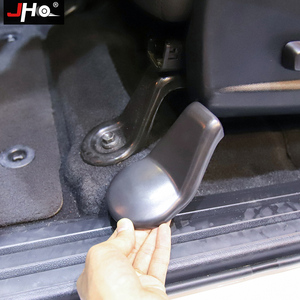 Image 1 - JHO ABS רכב מושב סוגר Stand חלד מגן אבזם כיסוי כובע עבור טויוטה טונדרה 2014  2020 2019 16 17 2018 15 אביזרים