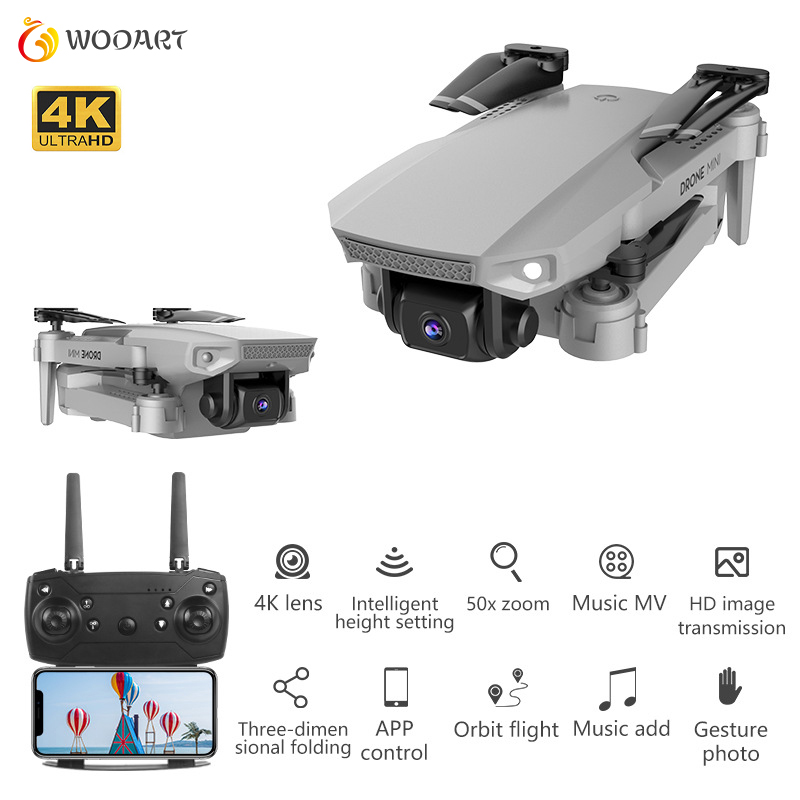 E88 Mini Drone With Fixed Height 4k Wide-angle Camera Aerial Photography Gesture Photo Mini Folding Rc Quadcopter