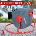Enrouleur de tuyau d'air de rembobinage automatique rétractable de 20M enrouleur de tuyau de compresseur d'air de bâti de mur de Rotation pour le lavage de voiture d'arrosage de jardin