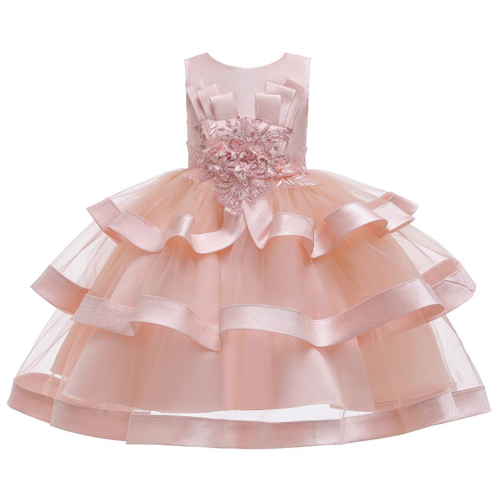 Girls Dress Elegant New Year Princess Children Party Dress Wedding Gown Kids Dresses for Girls Birthday Party Dress Vestido Wear 14