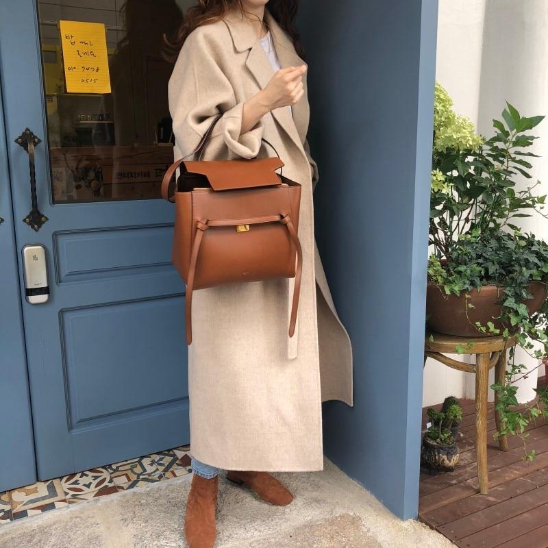 19 Winter Oversize Long Trench Coat Women Cashmere Coat Korean Lady Windbreaker Outwear Streetwear 62