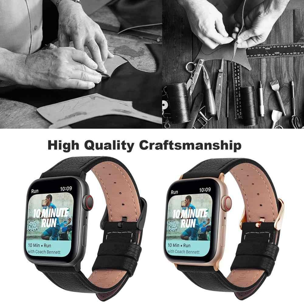 Eastar 3 สีขาย Hot หนัง Watchband สำหรับ Apple นาฬิกา Series 5/3/2/1 กีฬาสร้อยข้อมือ 42 มม.38 มม.สำหรับ iWatch 4 BAND