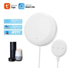 Умный датчик утечки воды Tuya, Wi Fi детектор проникновения воды с сигнализацией перелива, совместим с Alexa Google Home, IFTTT Tuya