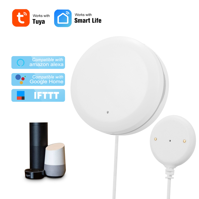 Tuya akıllı WIFI su kaçak sensörü su kaçak saldırı dedektörü taşma alarmı ile uyumlu Alexa Google ev IFTTT Tuya