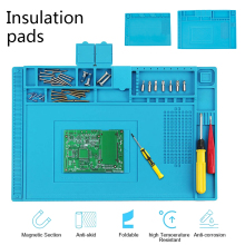 S140 Heat Insulation Working Mat Heat-resistant Silicone Soldering Pad Mat Desk Maintenance Repair Station With Magnetic