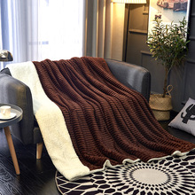 Simanfei Wool Blanket Winter Solid Flannel Sheepskin Throw Thick Soft Fluffy Warm Weighted Fur For Beds Sofa