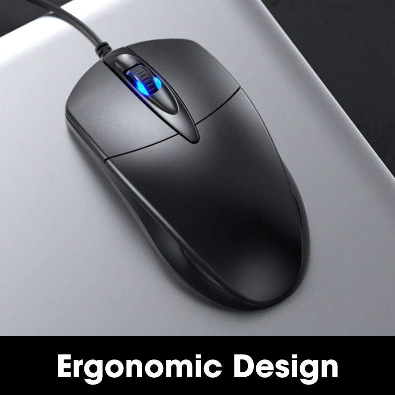 Wired עכבר גיימר מחשב משחקי משרד שקט USB עכברים 1200 DPI עכברים ארגונומי עבור Macbook מחשב נייד מחשב החלקה עכבר גיימר