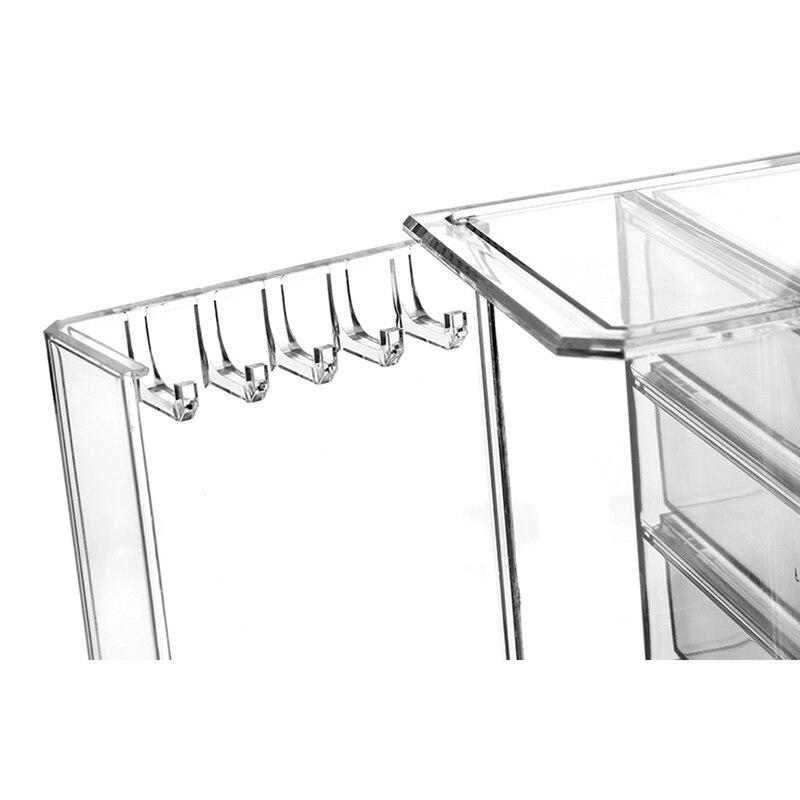 Boîte de rangement cosmétique transparente tiroir multicouche soins de la peau finition commode Collection de rouge à lèvres - 5