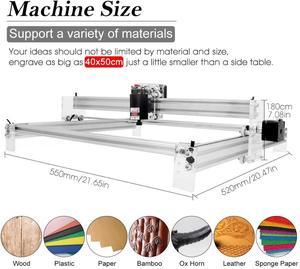 Image 2 - Área de trabalho 40cm x 50cm,2500mw/5500mw/15w máquina do cnc do laser, desktop diy máquina de gravura a laser violeta diy mini impressora a laser