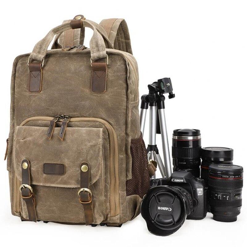 2019 New Retro Shoulder Photography Backpack Waterproof Canvas Men And Women With The Same Liner SLR Digital Camera Backpack Bag