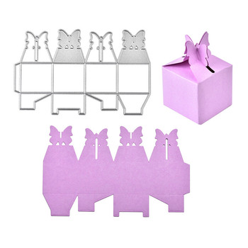 Naifumodo Gift Box Metal Cutting Dies Scrapbooking Dies for Card Making DIY Embossing Cuts Stencil Craft New Dies for 2019 cobweb network metal cutting dies scrapbooking for card making diy embossing cuts new craft 2019 spider with spider web