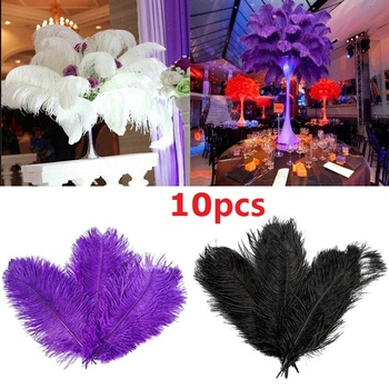 Plume Ostrich Feathers Beautiful Craft Centerpiece 4 Color Ornament Festival Decor Christmas Wedding Home Natural Multi-Color 1