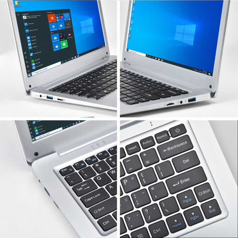 2021 New N3350 12.5 Inch Slim Mini Portable Laptop 4G RAM 64G SSD Ultrabook Business Office Notebook Cool Black Netbook Computer-1