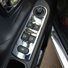 Для Renault Captur- высокое качество LHD ABS хром внутренний подлокотник двери окна стекло Лифт кнопка включения панель отделка Аксессуары 4 шт