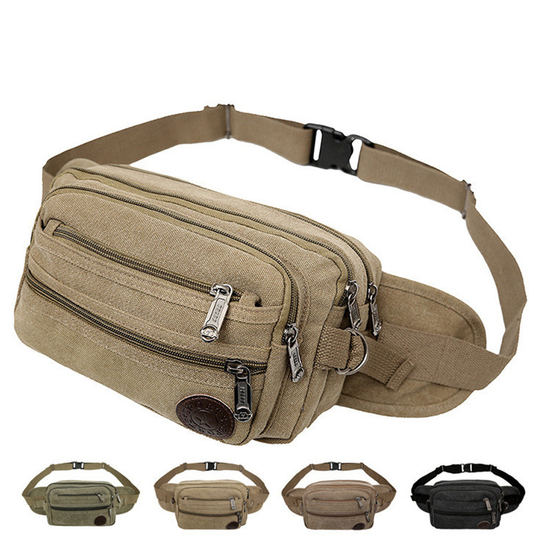 Outdoor Mountain Climbing Cycling Sports Waist Pack For Both Men And Women Large Capacity Wearable Canvas Bag Multilayer Busines