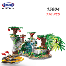 XINGBAO 15004 Forest Adventure Series 770PCS Explore The Stones Scenes Building Blocks Tree My World Bricks City Friends Model цена в Москве и Питере