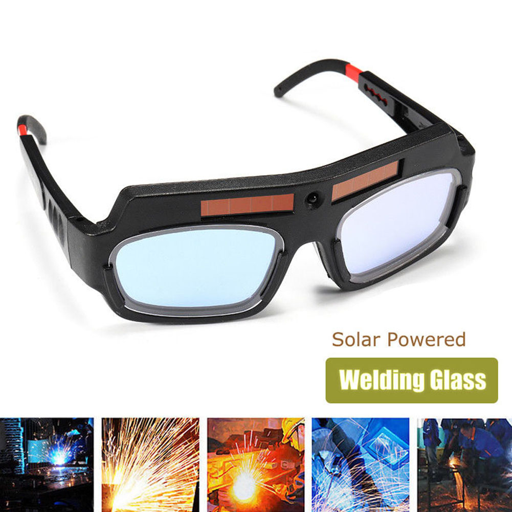 Solar Powered Safety Goggles Auto Darkening Welding Eyewear Eyes Protection Welder Glasses Mask Helmet Arc NC99