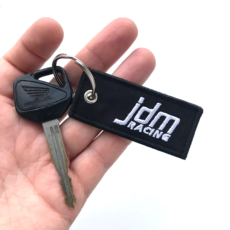 1pc Red Metal 3D Double Side GMC Logo Emblem Car Key Chain Ring Fob Pendant Gift