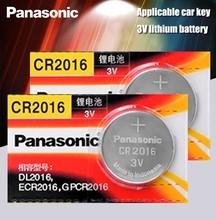 Panasonic Высокое качество литиевая батарея 2 шт./лот 3V cr2016 Кнопка батарея часы монета батареи cr 2016 DL2016 ECR2016