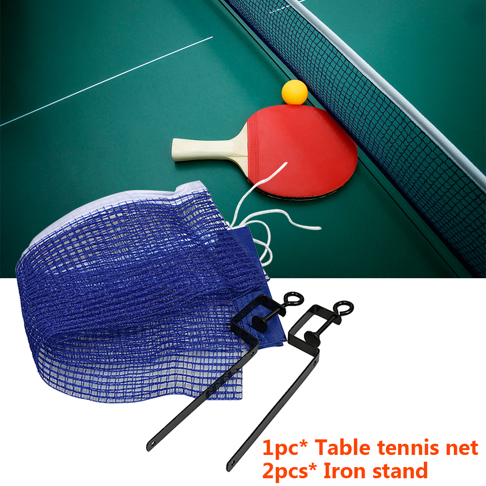 Portable Foldable Table Tennis Net Set 2 Iron Stand Strong Mesh Ping Pong Ball Fix Equipment Table Tennis Training Accessories