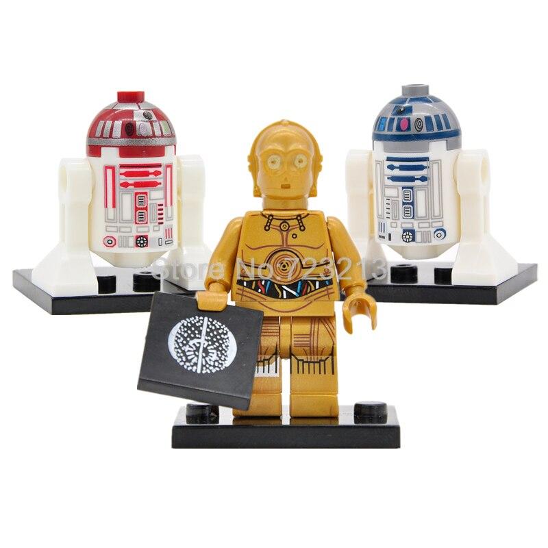 Лидер продаж, фигурки из Звездных войн, одна распродажа, принцесса Лея с цепочкой, Боба Фетт, набор строительных блоков, модель, Звездные войны, игрушки Legoing - Цвет: 3PCS