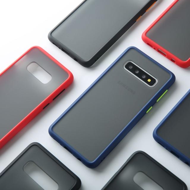 Matte Case For Samsung Galaxy S10 A50 A70 M20 Note 10 Plus A60 M40 S10e A30 Shockproof Hybrid Tough Armor Back Cover Capa Fundas