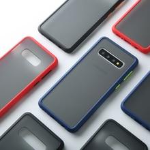 Matte Fall Für Samsung Galaxy S10 A50 A70 M20 Hinweis 10 Plus A60 M40 S10e A30 Stoßfest Hybrid Tough Rüstung zurück Abdeckung Capa Fundas