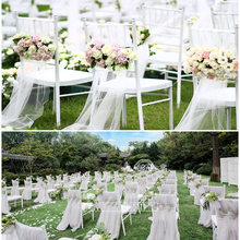 2PCS 48*500CM Tulle Wedding Organza Sheer Crystal Organza Fabric for Wedding Decoration Mariage Birthday Event Party Supplies