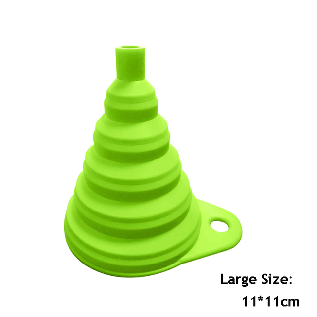 1pcs Mini Foldable Funnel Silicone Collapsible Funnel Folding Portable Funnels Be Hung Household Liquid Dispensing Kitchen Tools
