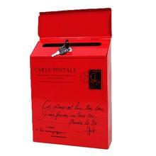 Почтовый ящик винтажный Ретро настенный почтовый ящик Почтовый почтовый ящик для газет Водонепроницаемый Креативный Железный почтовый ящик в американском стиле