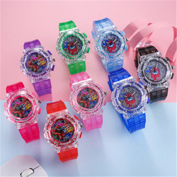 Relojes de juguete con patrón de juegos para niños, reloj de pulsera de cuarzo de cuero con dibujos de cristal a la moda para niñas, juguete para regalo