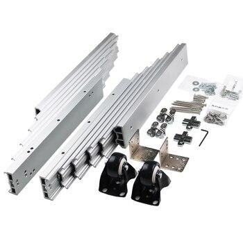 1 مجموعة مطوية طاولة آلية خزانة الجدول انزلاق دليل أجهزة الجدول المخفية