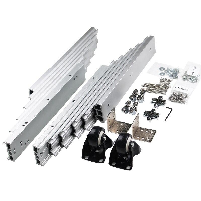1 ensemble de Table pliée mécanisme armoire Table coulissante Guide matériel de Table caché