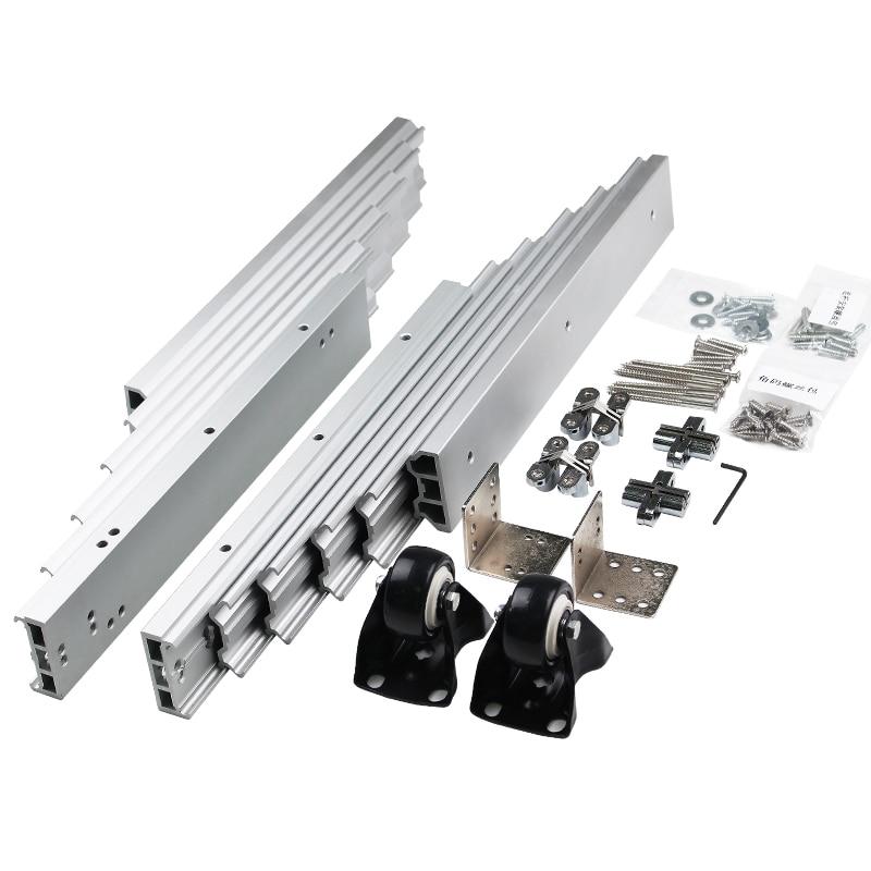 1 Set Folded Table Mechanism Cabinet Table Sliding Guide Hidden Table Hardware