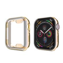 ProBefit 360 wąski zegarek pokrywa dla Apple Watch Case 5 4 3 2 1 42MM 38MM miękki przezroczysty z TPU na ekran Protector dla iWatch 4 3 44MM 40MM tanie tanio Plastic Zegarek Przypadki For Apple watch