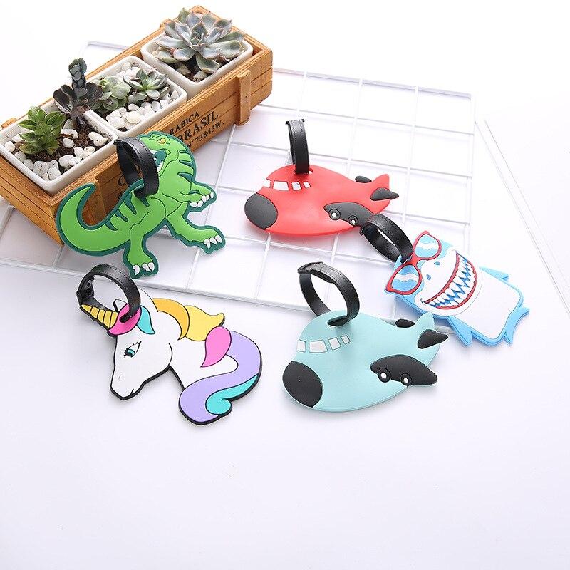 2020 New Fashion Creative Luggage Tag Cartoon Animal Silica Gel Suitcase ID Address Holder Baggage Boarding Tags Hot Sale